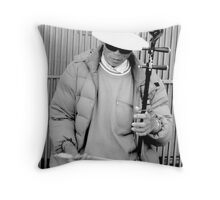 Chinatown Busker Throw Pillow