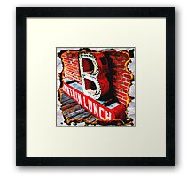 B is for Burn Framed Print