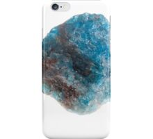 Cutout of a blue apatite gemstone on white background iPhone Case/Skin