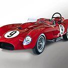 1958 Ferrari 250GT Testa Rossa V 'Studio' by DaveKoontz