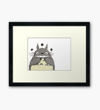 My beautiful Totoro ! Framed Print