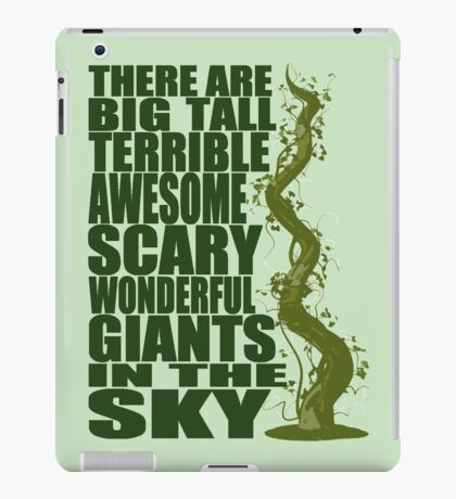 There Are Giants in the Sky! iPad Case/Skin