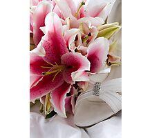 Wedding Flowers & Brides Shoe Photographic Print