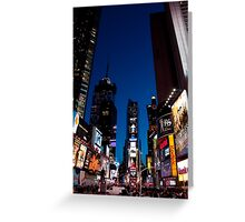 A Night in Times Square Greeting Card