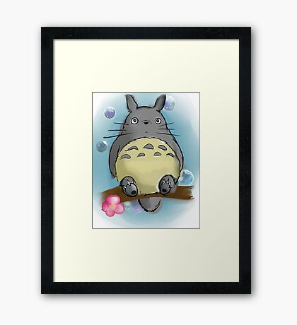 My sweet Totoro ! [UltraHD] Framed Print