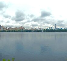 Central Park with New York City Skyline in Fall by MissCellaneous