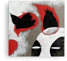 Flame Birds Canvas Print