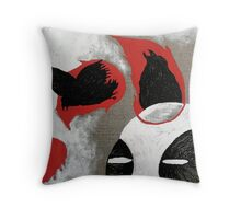 Flame Birds Throw Pillow
