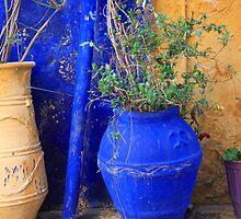Flower Pots, Greek Style by Steve Outram