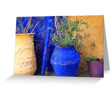 Flower Pots, Greek Style Greeting Card