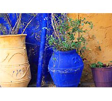 Flower Pots, Greek Style Photographic Print