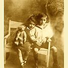 mary and her brother and teddy 1917 by picketty