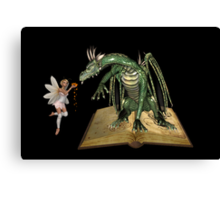 The dragon and the fae Canvas Print