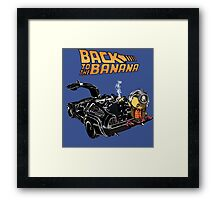 Back To The Banana v2 Framed Print