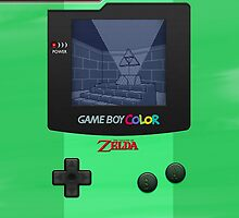 Gameboy Color Zelda Triforce Logo by SecondArt