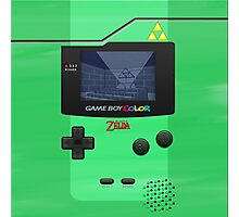 Gameboy Color Zelda Triforce Logo Photographic Print