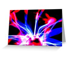 Purple plasma  Greeting Card