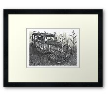 Abandoned Antique Car - www.jbjon.com Framed Print