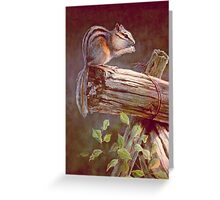 CHIPMUNK by SHARON SHARPE Greeting Card