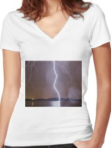 Thunderstruck Women's Fitted V-Neck T-Shirt