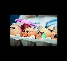 Decorated Eggs at the Portland Farmers Market by Nicole Petegorsky