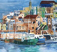 Jaffa fishing port by orna
