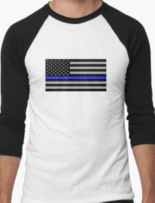 The Thin Blue Line Blessed Are the Peacemakers Men's Baseball ¾ T-Shirt
