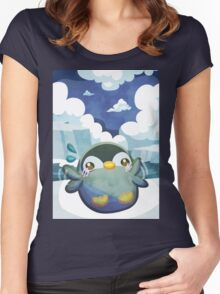 Cute Penguin Women's Fitted Scoop T-Shirt