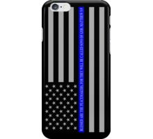 THE THIN BLUE LINE BLESSED ARE THE PEACEMAKERS iPhone Case/Skin