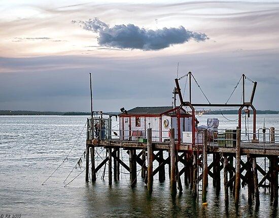 Fishing Wharf Evening by Richard Bean