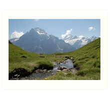 Mountain stream nr first bernese oberland Art Print