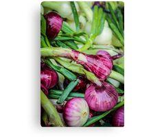 Farmers Market Red Onions Canvas Print