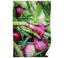 Farmers Market Red Onions Poster