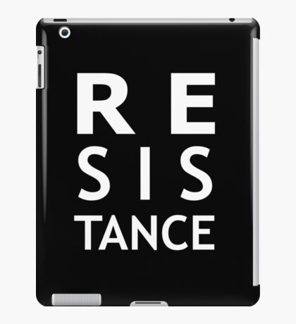 Resistance (white) iPad Case/Skin