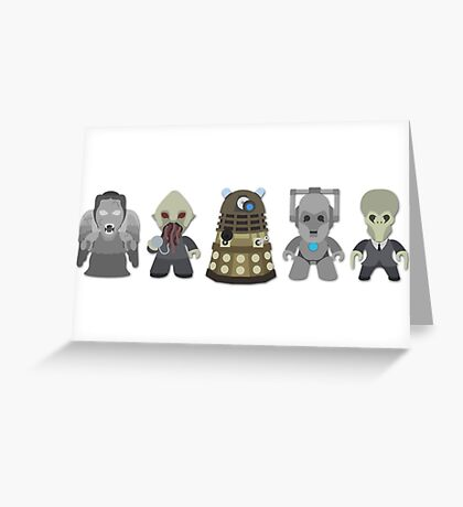 Doctor Who Monsters Greeting Card
