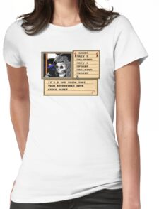 NES Grim Reaper Game Screen Womens Fitted T-Shirt