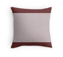 GEOMETRIC interior design, muted red and grey Throw Pillow