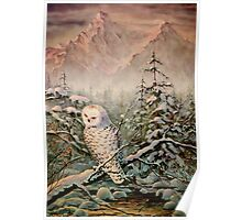 SNOWY OWL by SHARON SHARPE Poster