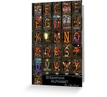 Steampunk - Alphabet - Complete Alphabet Greeting Card