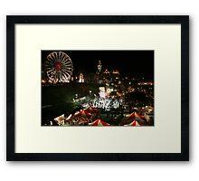Edinburgh at Christmas and New Year Framed Print