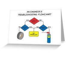 Engineering Flowchart Greeting Card