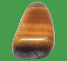 Single Tiger Eye Semiprecious Gemstone Gemini Birthstone One Piece - Short Sleeve