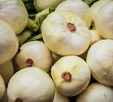 Farmers Market White Onions by Nicole Petegorsky