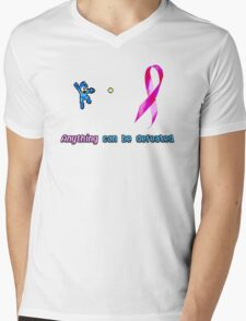 Anything Can Be Defeated(Blue Bomber) Mens V-Neck T-Shirt
