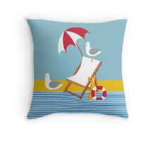 Seagulls everywhere! Throw Pillow