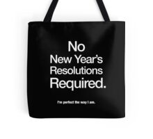 New Year's Resolution Tote Bag