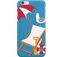 Block Blue Seagulls iPhone Case/Skin