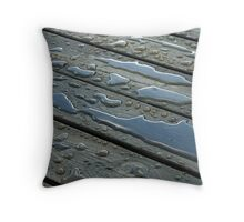 Water on Wood Throw Pillow