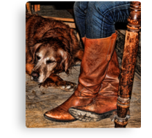Boots and Buddy Canvas Print