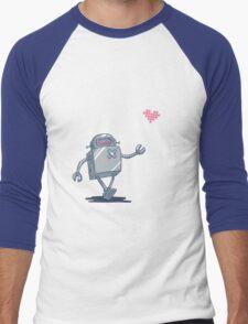 Robot Love Men's Baseball ¾ T-Shirt